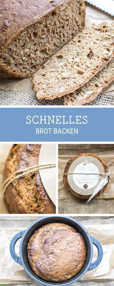 Rezeptidee fürs Frühstück: Schnelles Brot aus Weizen und Dinkel backen / easy bread recipe with spelt, healthy breakfast inspiration via DaWanda.com
