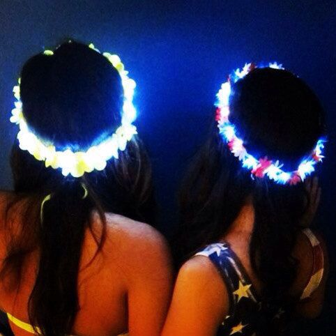 Glowing flower crowns