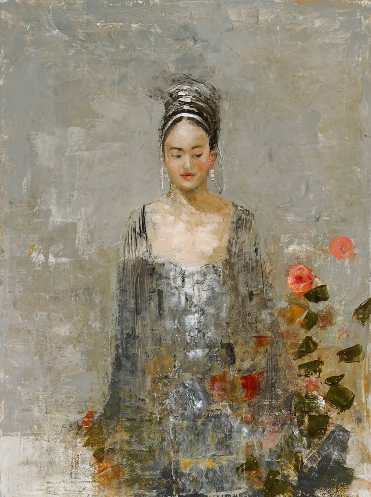 Goxwa (Malta, born 1961) Encaustic painting on canvas