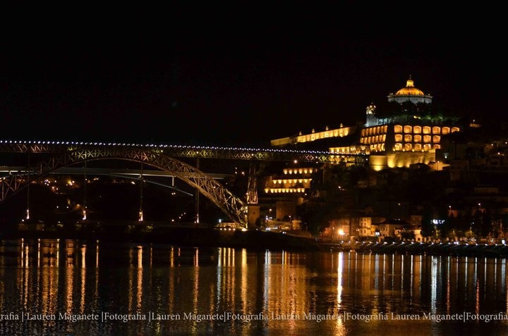Porto city by night