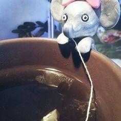 """Porte sachet de thé """"petit éléphant"""""""