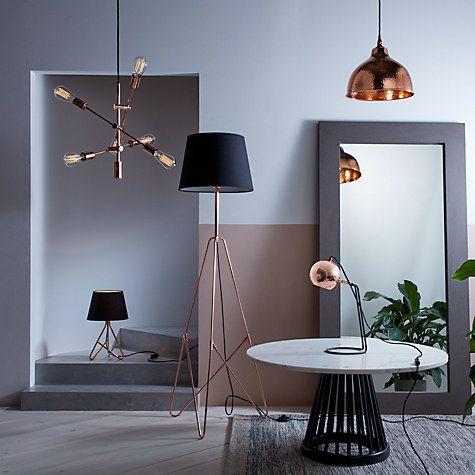Buy House by John Lewis Elias Retro Pendant Ceiling Light, Copper   John Lewis