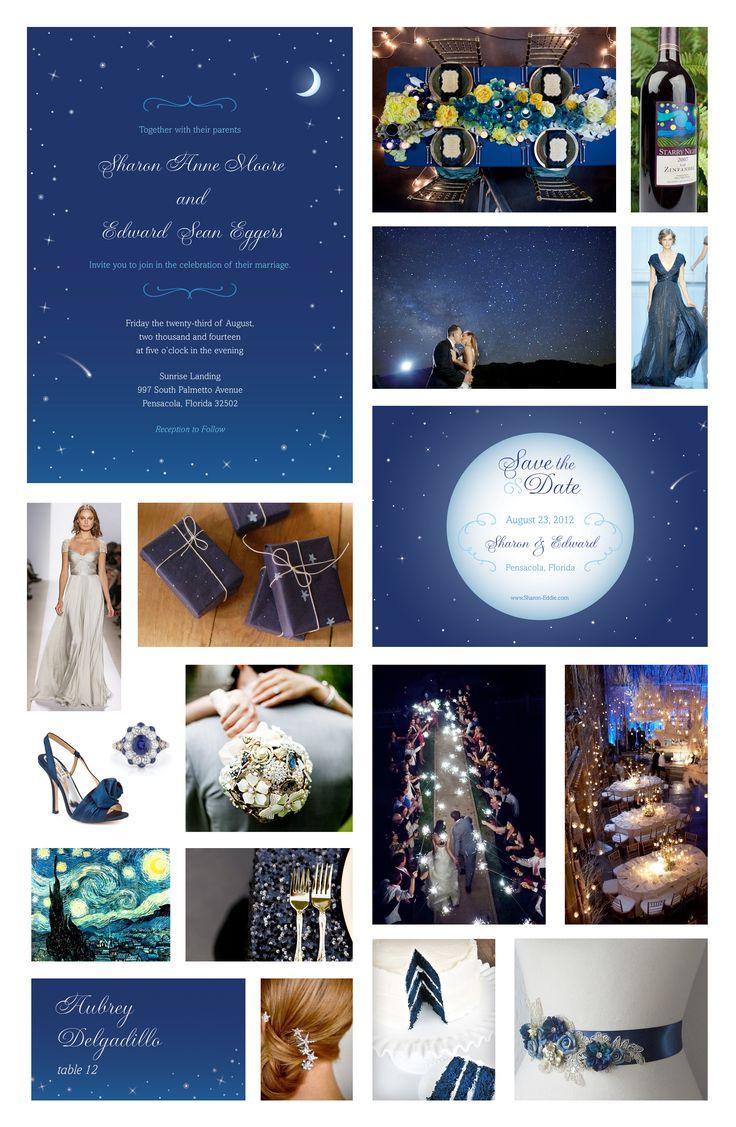 """Starry Night"" Wedding Theme                                                                                                                                                     More"