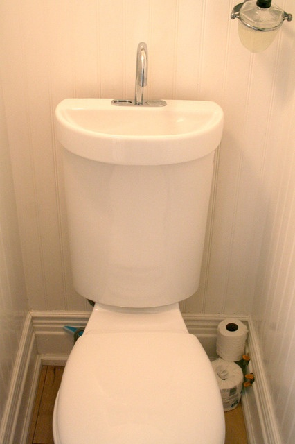 Sink integrated into cistern!