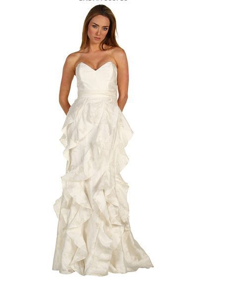 Cute NWT Badgley Mischka Bridal Gown Ivory Full Length Dress in Size