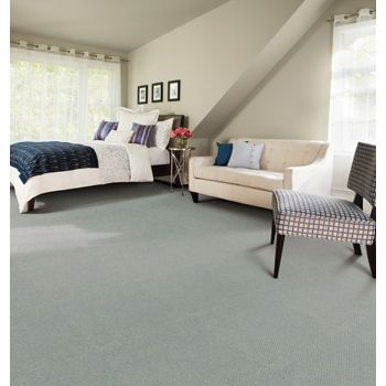 A blue hue on the floor is soft and welcoming innovia is carpet one floor s carpet collection made from a natural based technology combining