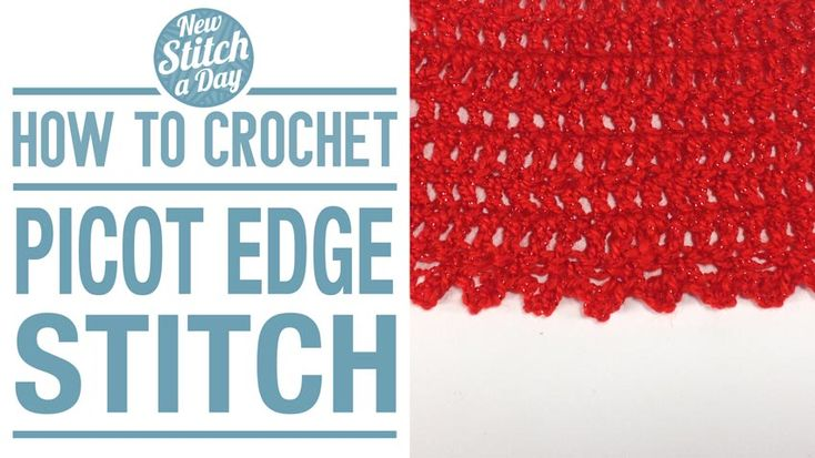 Crochet Tutorial: How to Crochet the Picot Edge Stitch. Click link to learn this stitch:  http://newstitchaday.com/how-to-crochet-the-picot-edge-stitch/  ‎#yarn #crocheting: Picot Edge, Newstitchadaycom, Crochet Tutorials, Crochet Stitches, Baby Blankets, Crochet Patterns, Edge Stitches, Hatch Stitches, Crochet New