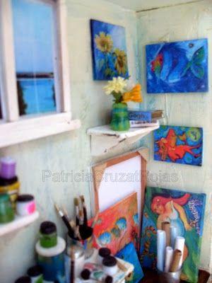 Patricia Cruzat Artesania y Color: Taller del Pintor, con Miniaturas