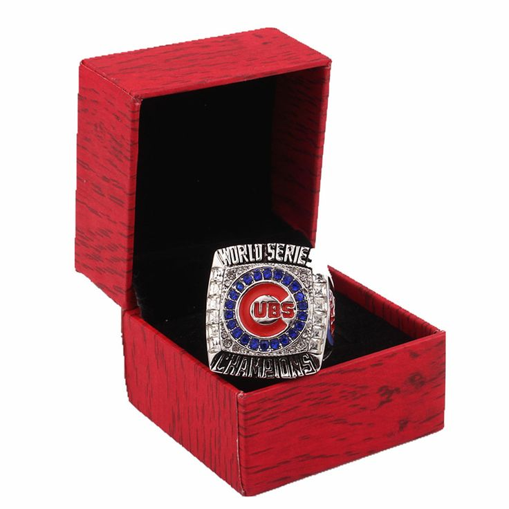 Box Packing 2016 REPLICA Chicago Cubs Baseball World Series Champion Ring Replica Sport Circle Men's Jewelry Gift