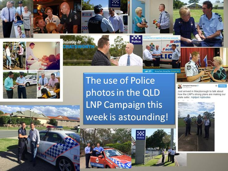 LNP posing with police QLD Election campaign