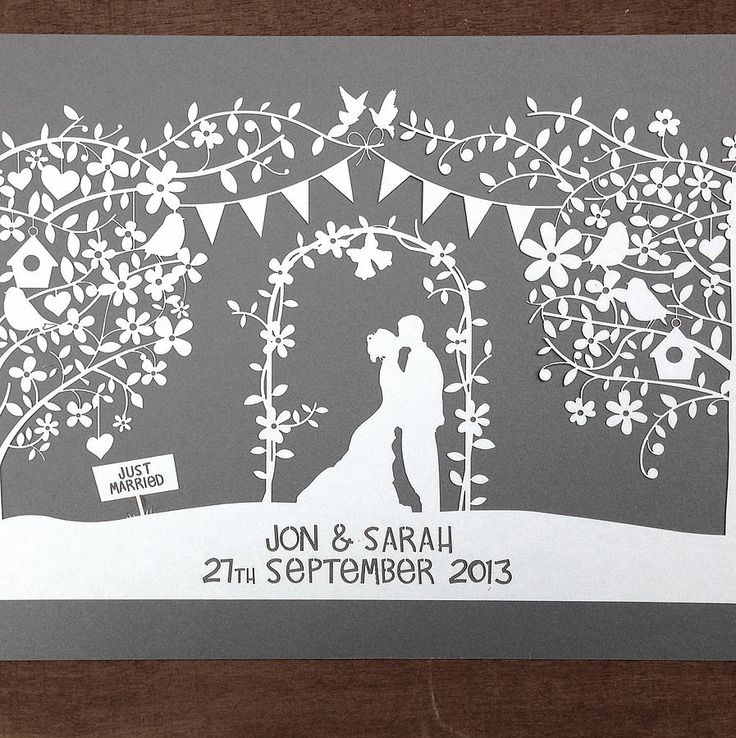 personalised wedding papercut by cefuk | notonthehighstreet.com