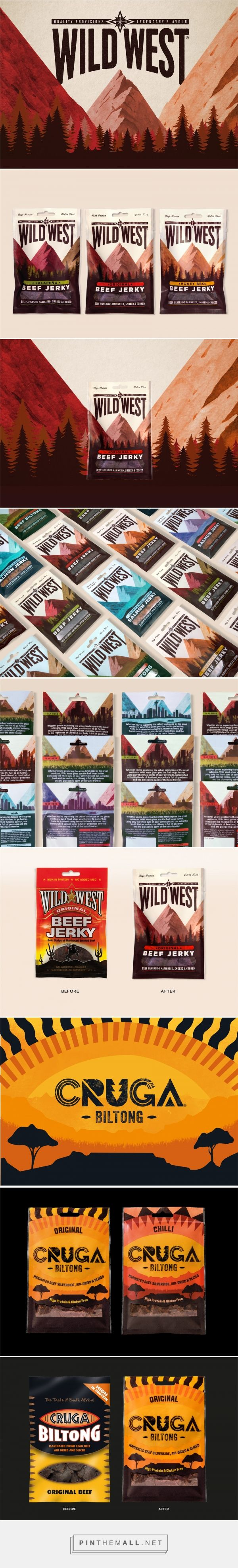 Before & After - Meatsnacks Cruga and Wild West packaging design by Pearlfisher. - http://www.packagingoftheworld.com/2017/11/meatsnacks-cruga-and-wild-west.html