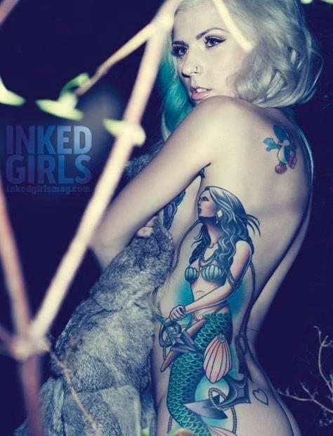 Mermaid Tattoo :: AIRICA :: Inked Girls - i LOVE that the mermaid looks Chicana/Aztec/Native American - NEED