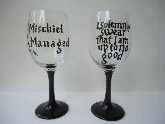Harry Potter Wine Glasses