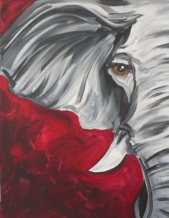 roll tide roll elephant canvas