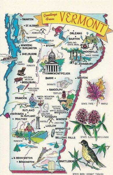 Best Maps Images On Pinterest Maps World Maps And A Well - Maps of vermont