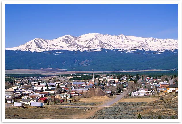 Leadville, Colorado.  Highest incorporated town in the US.