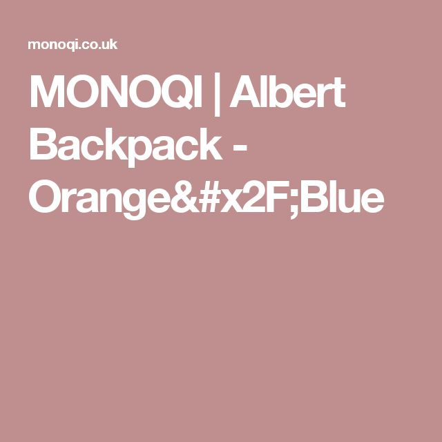 MONOQI | Albert Backpack - Orange/Blue