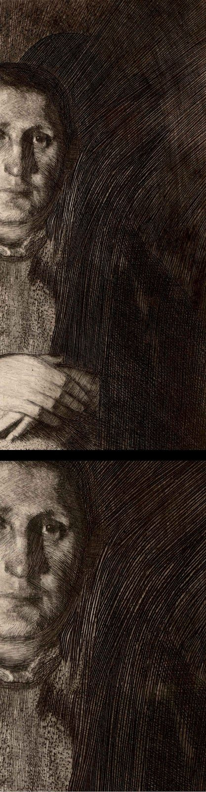 Käthe Kollwitz, (detail) #etching, dry point and soft ground .. Love her work .. Beautiful