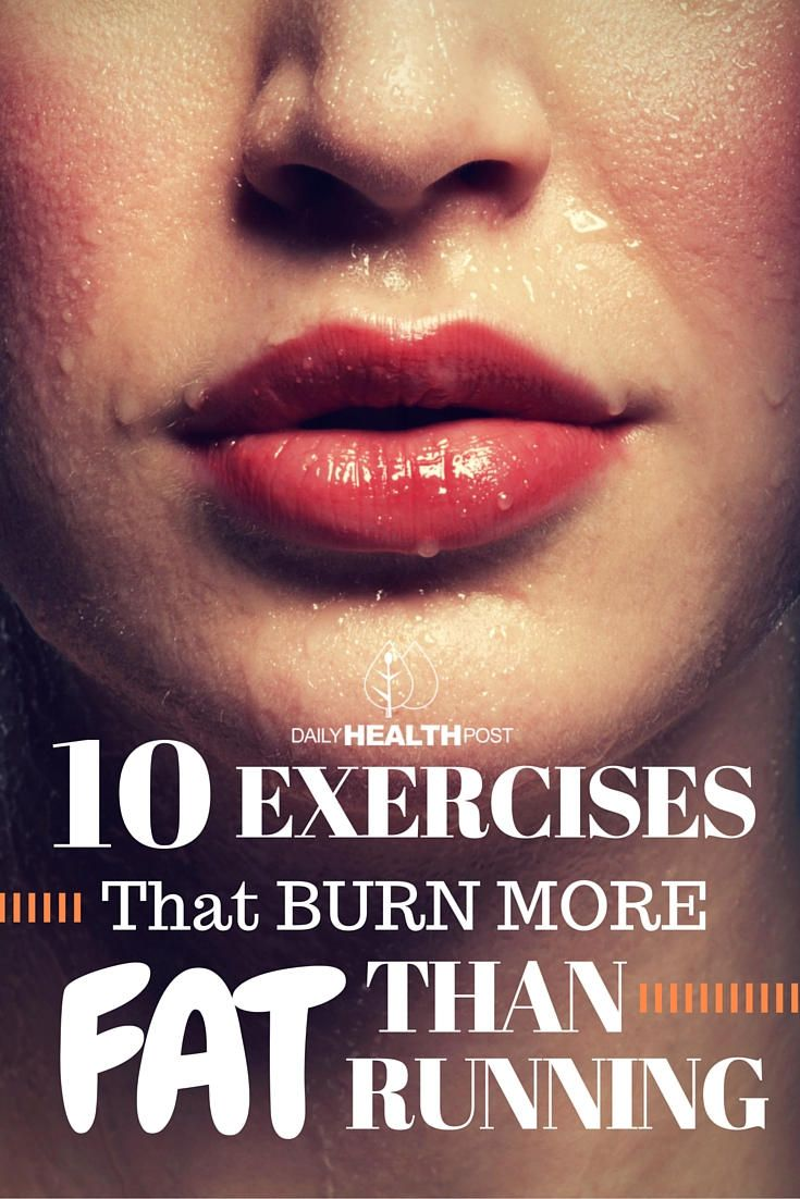 Running is a great cardiovascular exercise to burn fat.
