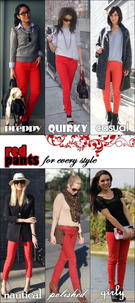 34813559d569 What colour tops should I wear with red jeans? - Quora | PANTS ...
