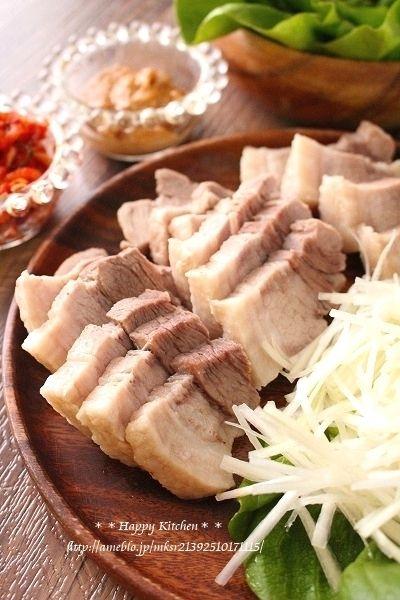 蒸し豚と味噌の野菜包みポッサム風(オススメです!) by たっきーママ ...