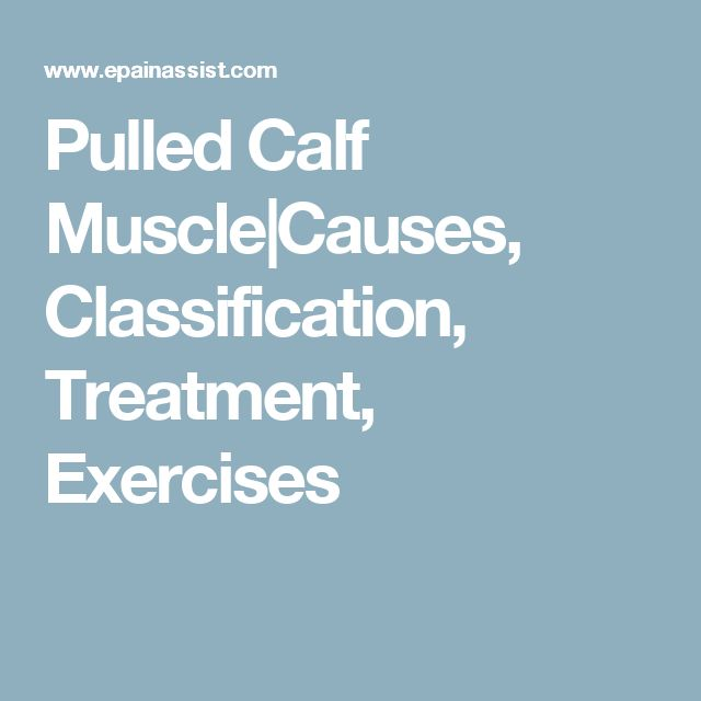 Pulled Calf Muscle|Causes, Classification, Treatment, Exercises