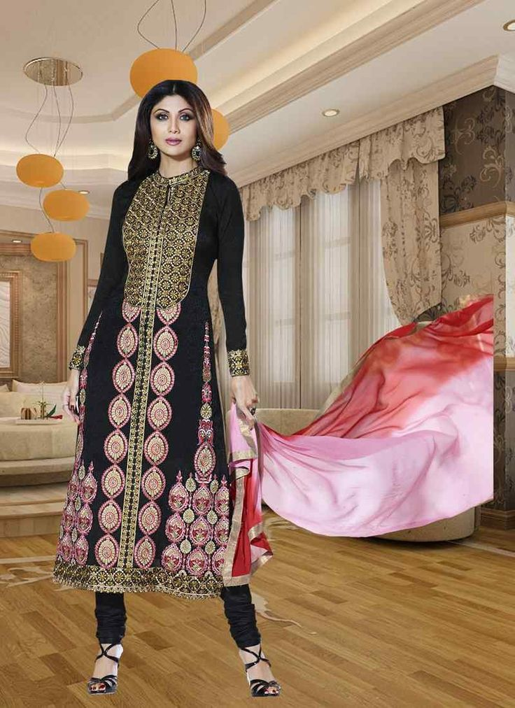 Buy Fantastic Black Pink Semi Stitched Salwar Kameez Get 30% Off on Designer Salwar Suits From Leemboodi Fashion with Free Shipping in INDIA Use Coupon Code: RAKHI15 to Get 15% off on Every Product of Leemboodi Fashion Now Available on Cash On Delivery