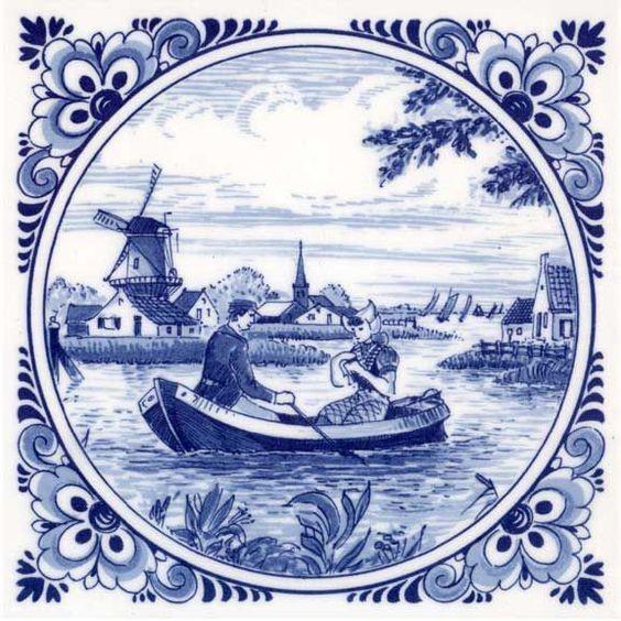 голландские изразцы картинки