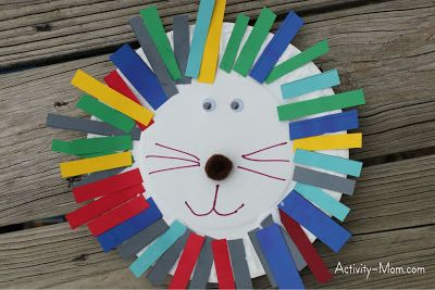 Paper Plate Alphabet Craft – L is for Lion Easy for 3-5 yr olds to do on there own :)