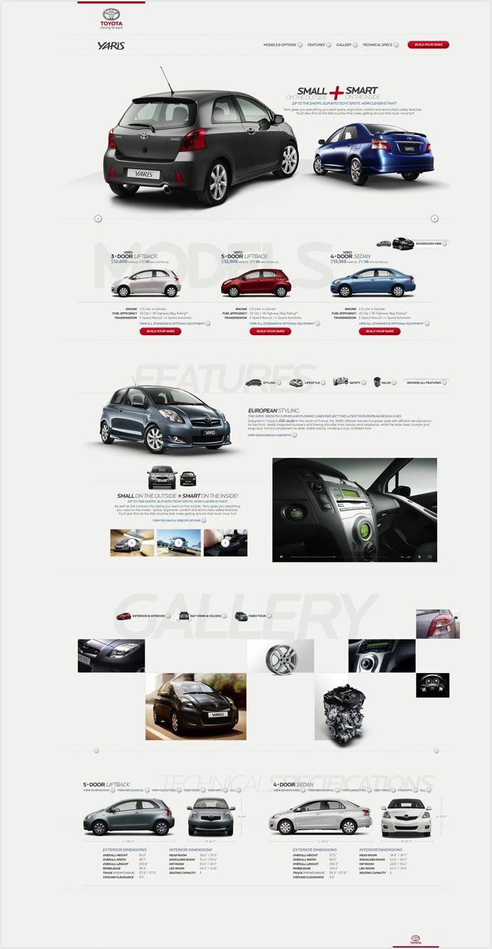 Cool Automotive Web Design. Toyota. #automotive #webdesign [http://www.pinterest.com/alfredchong/]