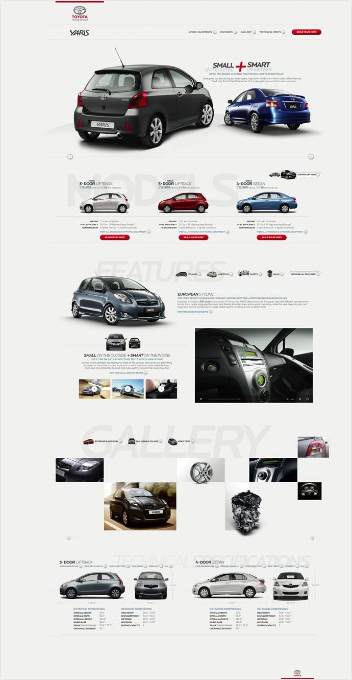 A Toyota Product Range through a Simplified and Organic User Experience