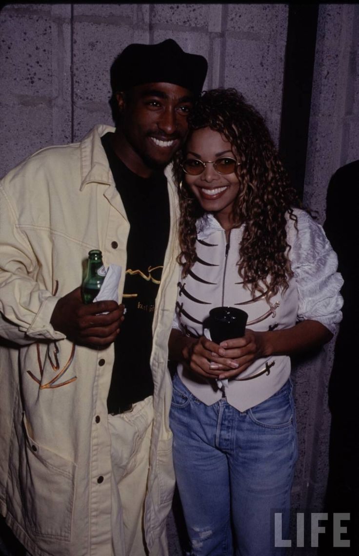 Janet and 2pac at opening of Poetic Justice