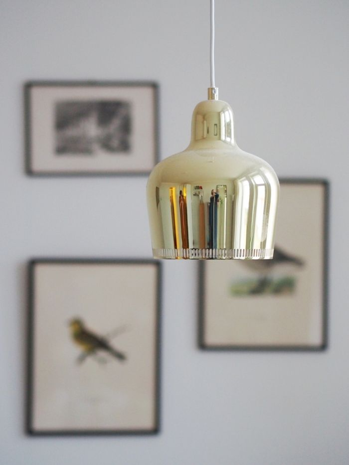 A330S Golden Bell lamp by Alvar Aalto. Photo by Jenni Rotonen / Pupulandia.