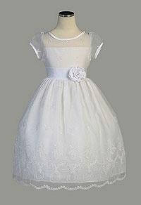 Flower Girl Dresses -Communion/Flower Girl Dress Style 333 -Beautiful Teardrop Embroidered Organza Dress