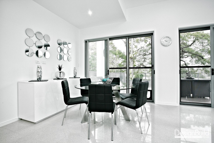 Downstairs rumpus with dining space.