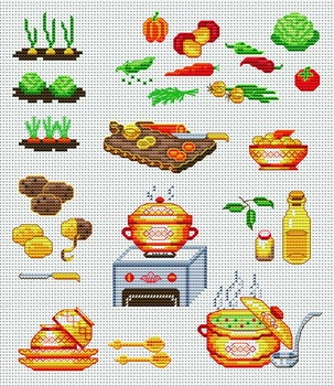 Soup. Love the teacups.  This pattern is from a site that has really easy to download embroidery patterns for free.                                                  It's http://cross-stitchers-club.com/?code_avantage=uucqid.  Plus, if you click on this link, you'll automatically receive a gift when you subscribe. I use this site all the time; there are hundreds of all different types of patterns, and there are new patterns added everyday. It's really worth a look.
