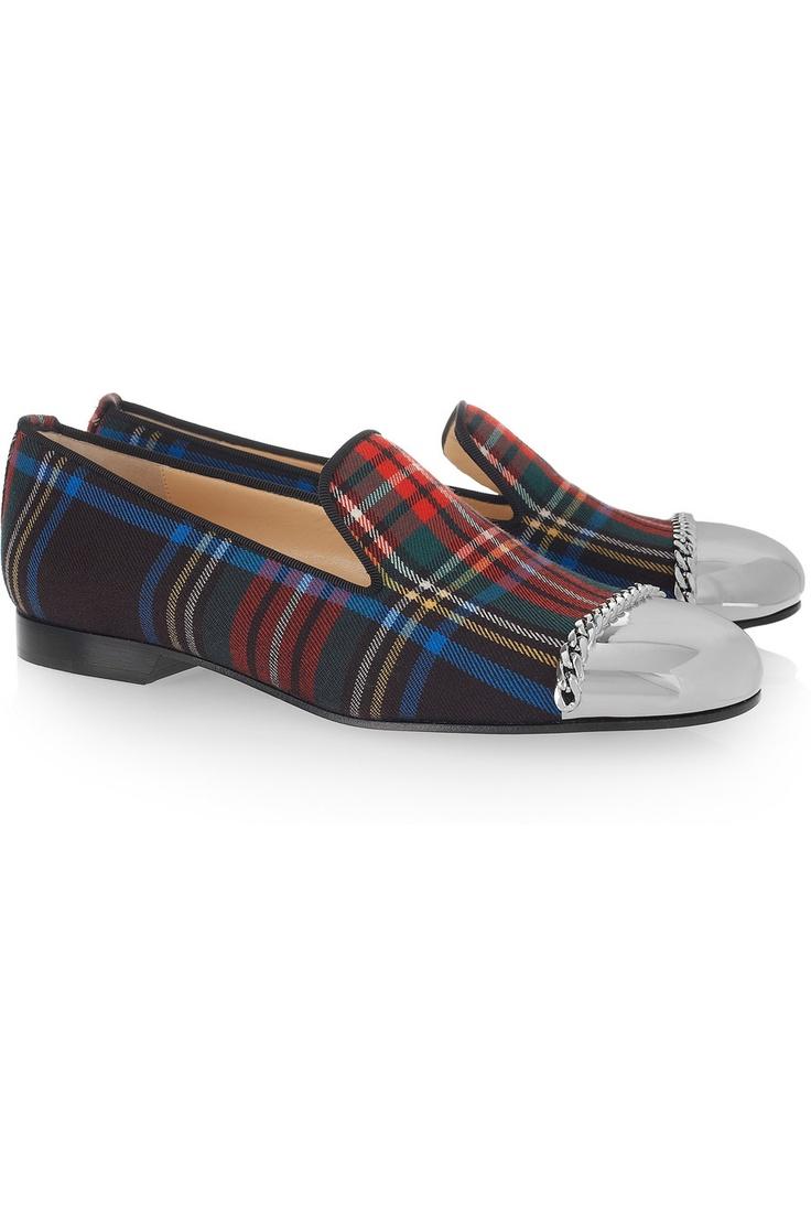 tartan toecap loafers