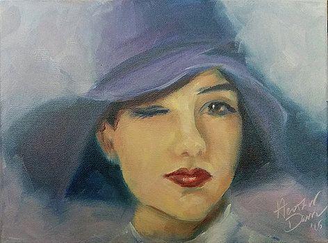 Blue Hat by Heather Kemp