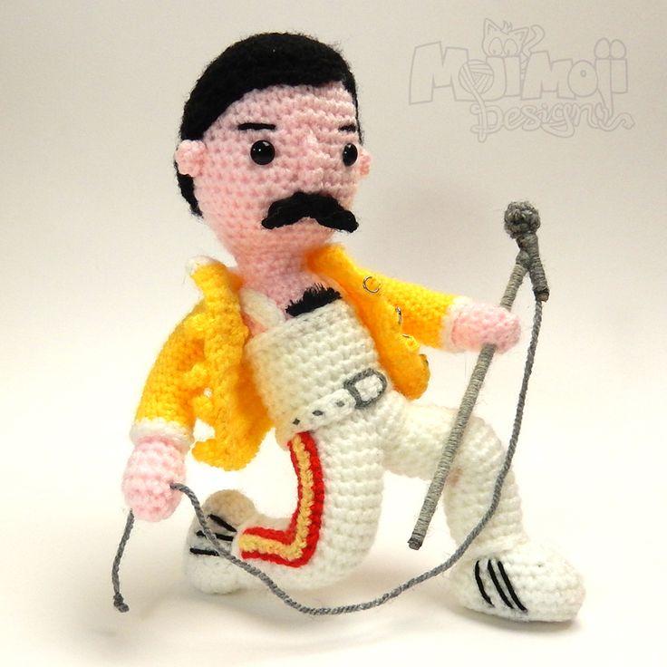 Amigurumi Queens : Freddy Mercury Free Crochet Pattern Crochet Amigurumi ...