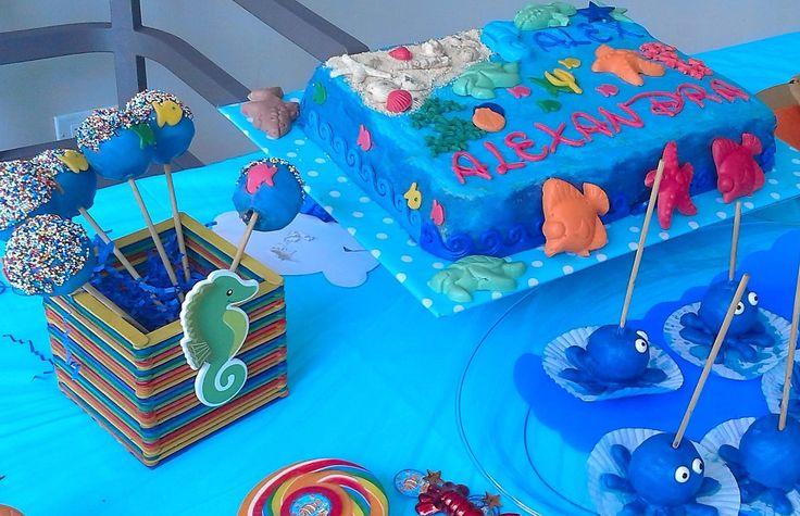 fiesta cumpleaños animalitos del mar