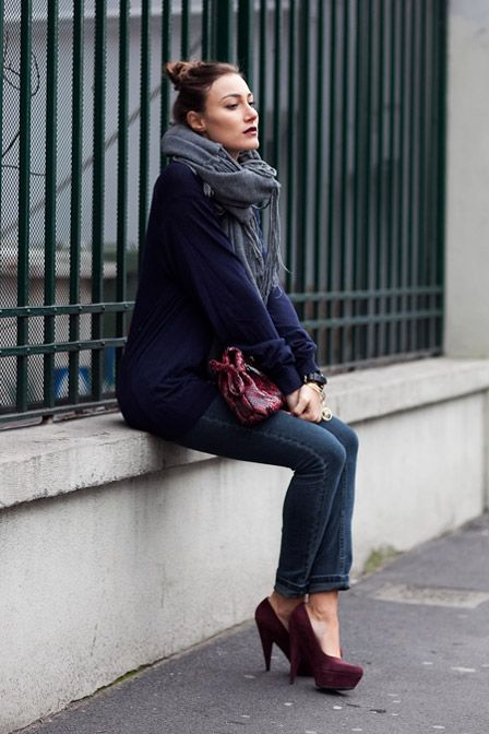 17 Best images about Outfits with burgundy shoes on Pinterest | Pump Brown pencil skirts and ...