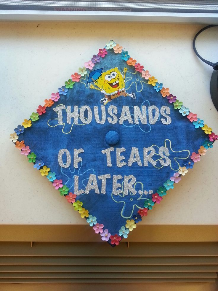 University of Indianapolis graduation cap 2016! #graduation #cap #spongebob. Ask me how - #graduation #indianapolis -
