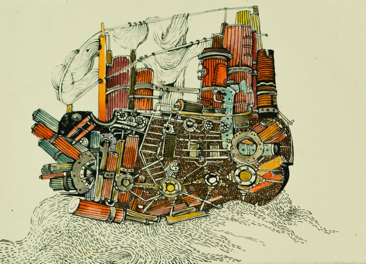 #ship #steampunk #illustration