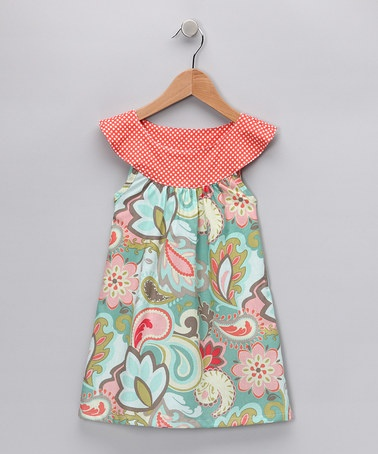 Green Floral Couture Yoke Dress - Infant, Toddler & Girls by Haley & the Hound on Zulily today!