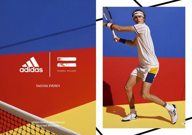 new york fa8e1 99c51 Adidas Tennis Collection by Pharrell Williams   Athletic Fashion   Adidas,  Athletic fashion, Sports advertising