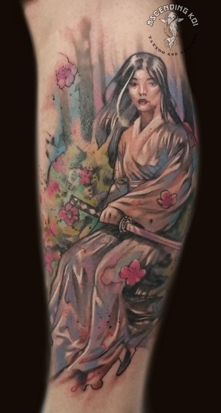 146 best trevor 39 s tattoo work images on pinterest a for Female samurai tattoo
