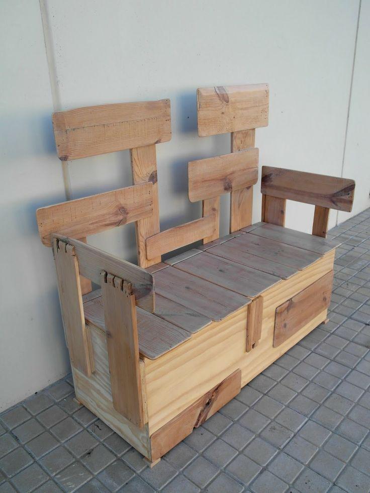 banco construido con maderas labradas a mano de un mueble centenario by tamal