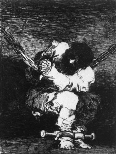El cautiverio es tan bárbara como la delincuencia  - Francisco de Goya  ~Repinned Via Kirstin Kirkpatrick