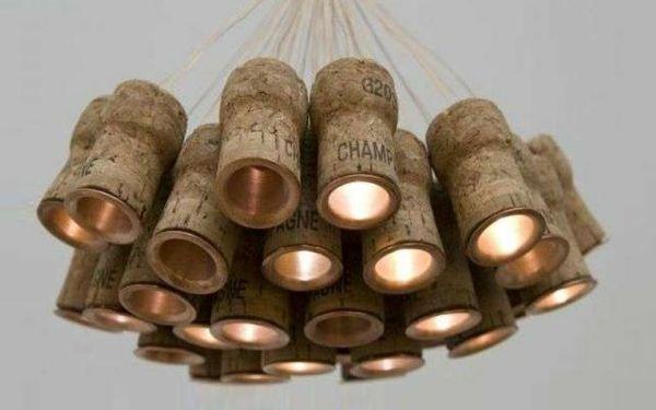 Basteln mit Korken kronleuchter deckenbeleuchtung